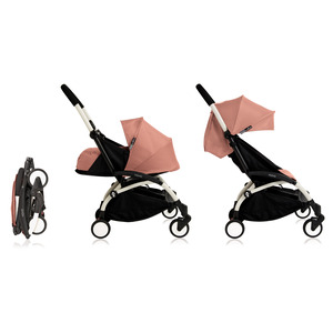 Babyzen YOYO² 0+ Kinderwagen - Frame Wit + Newborn Pack & Color Pack 6+ - Ginger