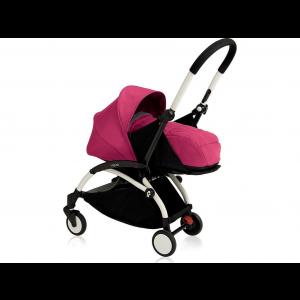Babyzen Yoyo Kinderwagen White Frame + Newborn Pack & Color Pack 6+ - Pink
