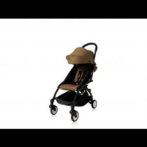 Babyzen Yoyo Kinderwagen Black Frame + Newborn Pack & Color Pack 6+ - Toffee