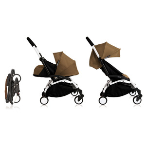 Babyzen YOYO² 0+ Kinderwagen - Frame Wit + Newborn Pack & Color Pack 6+ - Toffee