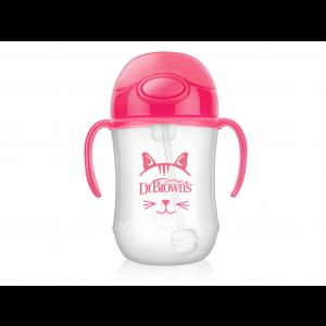 Dr. Brown's Baby's eerste rietjesbeker Roze 270 ml