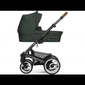 Mutsy Nio Adventure Kinderwagen, frame - Dark Grey, zit en reiswieg - Pine Green