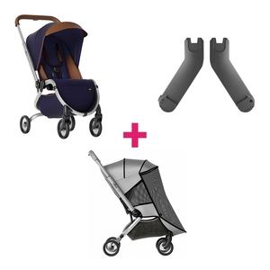 Mima Zigi Kinderwagen & Muskietennet & Adapter - Midnight Blue
