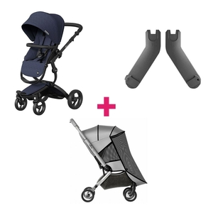 Mima Xari Sport Kinderwagen & Muskietennet & Adapter - Black/Denim