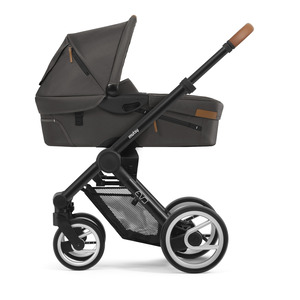 Mutsy Evo Urban Nomad Kinderwagen, frame - Dark grey, zit en reiswieg - Stone grey