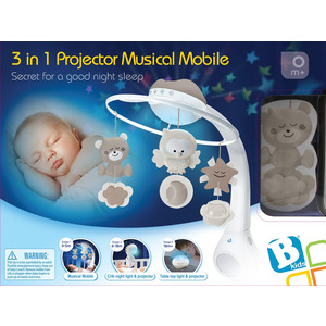 Infantino Muziekmobiel en projector 3 in 1, Grijs