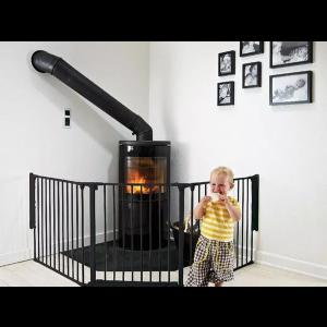 BabyDan Traphek Flex L 90-223cm - Zwart