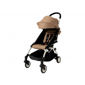Babyzen YOYO 6+ Buggy - White Frame - Color Pack Taupe