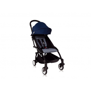 Babyzen Yoyo Kinderwagen Black Frame + Newborn Pack & Color Pack 6+ - Airfrance Blue