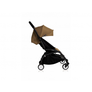 Babyzen Yoyo Kinderwagen Black Frame + Newborn Pack & Color Pack 6+ - Toffee