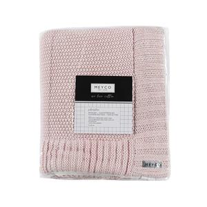 Meyco Silverline gebreid boxkleed mix roze 80 x 100 cm