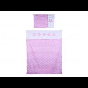 Briljant Baby Dekbedovertrek + Kussensloop Thijs 100x135 cm - Roze