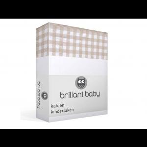 Briljant Baby Ledikantlaken Abby 100x150 cm - Taupe