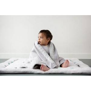 Snoozebaby Cot Blanket stylish cocooning – Cloudy Blue