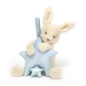 Jellycat muziekdoosje Star Bunny blauw