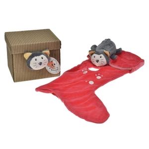 Egmont Toys knuffeldoekje gelaarsde kat