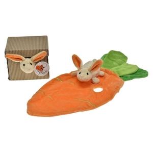 Egmont Toys Knuffeldoekje konijn met wortel