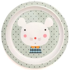 Petit Monkey melamine bord met rand muis Ø20,3 cm