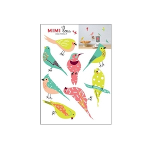 MIMI 'lou muurstickers vogels just a Touch