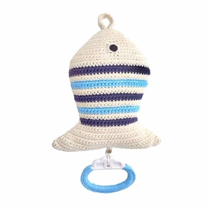 Anne Claire Petit muziekdoosje vis blauw