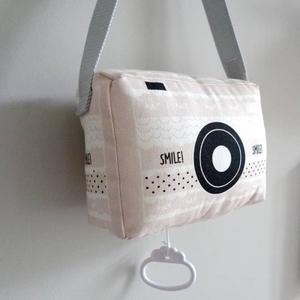 Hip Huisje muziekdoosje fototoestel roze