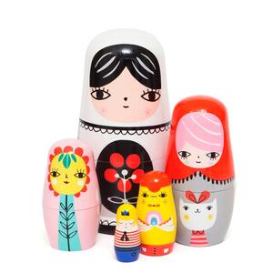Petit Monkey Nesting dolls Fleur en vrienden 5-delig
