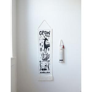 Wee Gallery groeimeter Woodland 30 x 115 cm