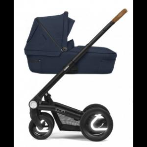 Mutsy Icon Kinderwagen, frame - Zwart, zit en reiswieg - Balance Indigo