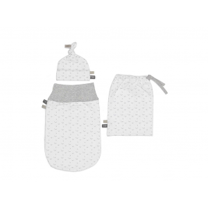 Snoozebaby Newborn Set Cocoon 0-3 mnd - Light Grey