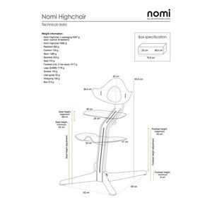 Nomi Highchair - Natur oiled/Black