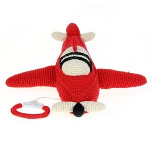 Anne Claire Petit muziekdoosje vliegtuig rood