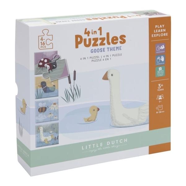 Little Dutch 4 in 1 puzzel - Little Goose