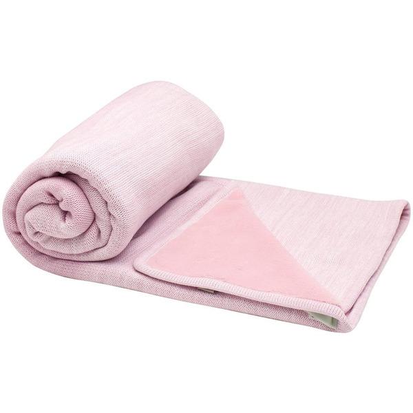 Snoozebaby Crib Blanket stylish cocooning – Powder Pink Double Layer