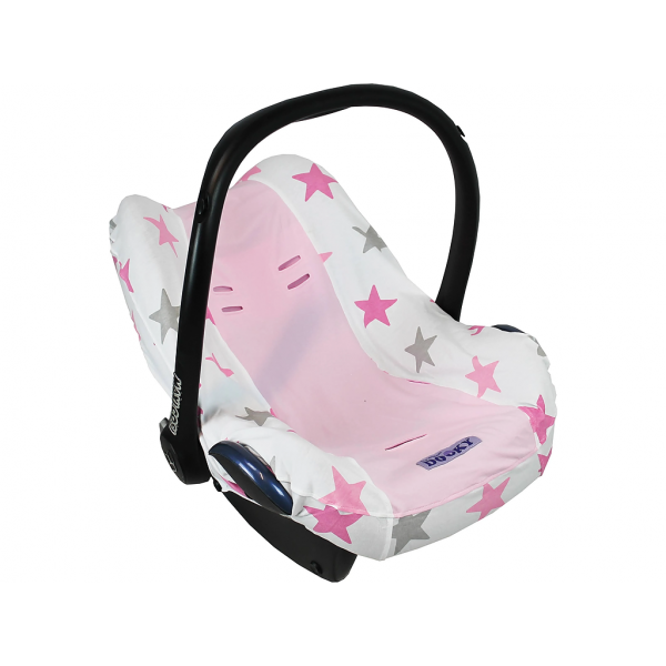 Dooky Seat Cover 0+ Autostoelhoes - Pink Stars