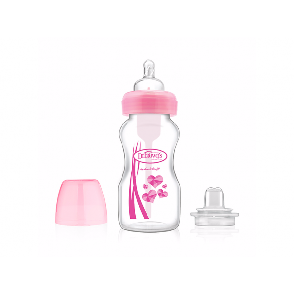 Dr. Brown's Transition Bottle 2-in-1 BH 270ml - Roze