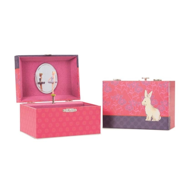 Egmont Toys muziek en juwelen doosje bloemen en konijn
