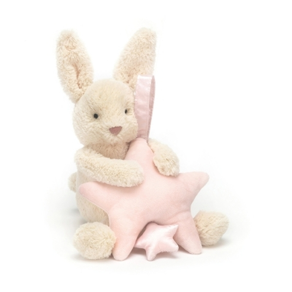 Jellycat muziekdoosje Star Bunny roze