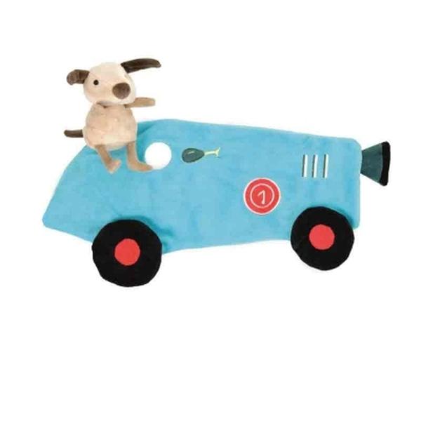 Egmont Toys knuffeldoekje raceauto met hond