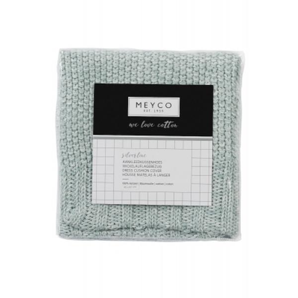 Meyco Silverline gebreid aankleedkussenhoes relief mixed sage green 43x72xH9 cm