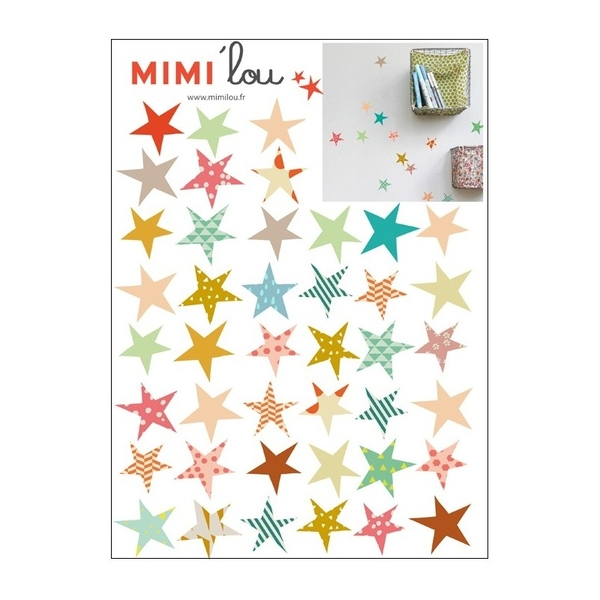 MIMI 'lou muurstickers sterren Just a touch