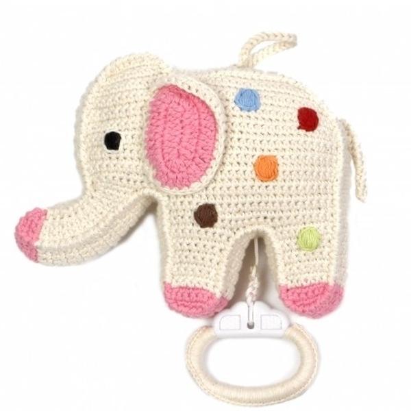 Anne Claire Petit muziekdoosje olifant creme met stippen