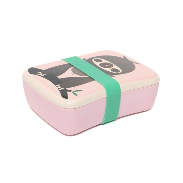Petit Monkey lunchbox luiaard roze