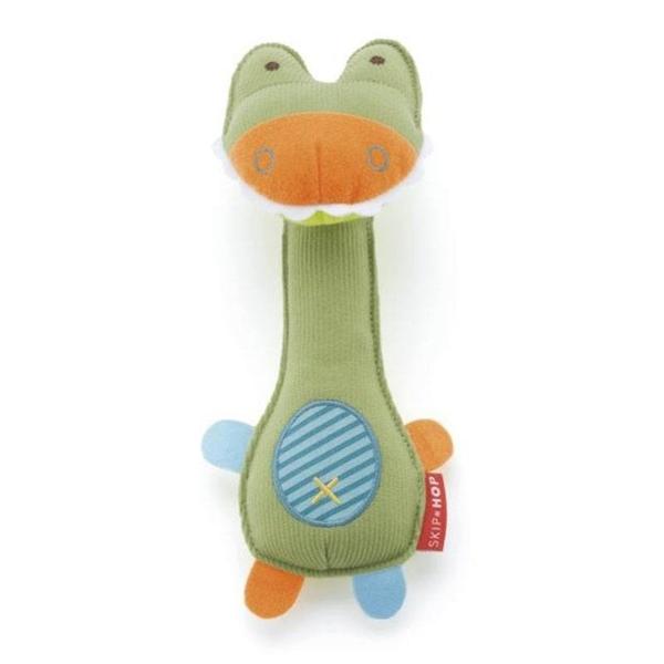 Skip Hop rammelaar en knijpspeeltje krokodil