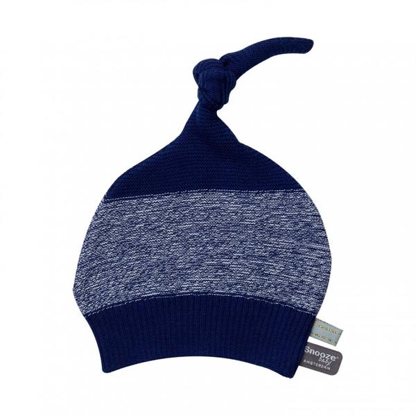 Snoozebaby Hat Knitted - Indigo Blue