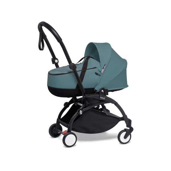 Babyzen YOYO² 0+ Kinderwagen - Frame Zwart + Newborn Pack & Color Pack 6+ - Aqua
